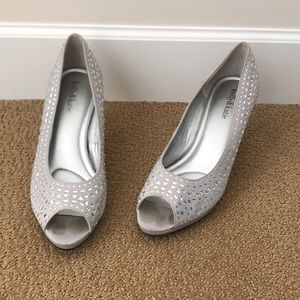 Kelly and Katie Sparkled White High Heels
